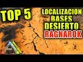 ARK TOP 5 RAGNAROK | LOCALIZACION BASES NUEVA ZONA DEL DESIERTO | best base location