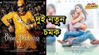 দুই চমক একদিনে। কোনটি সেরা ? Bhool Bhulaiyaa 2 - Kartik Aaryan | Saaho - prabhas | Star Golpo
