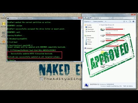 Create Bootable USB Flash Drive | for Windows 7/8/10 | using CMD