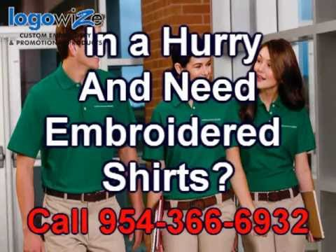 Embroidered Polo Shirts Ft Lauderdale