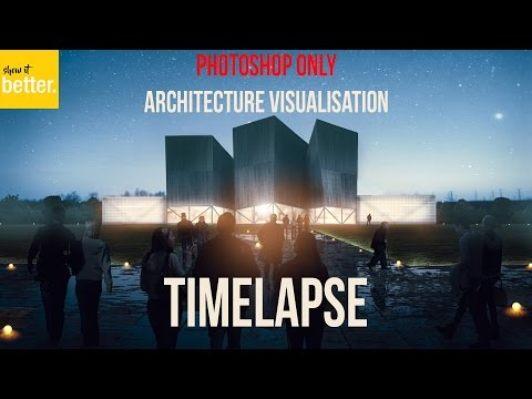Architecture Visualisation  only Photoshop  Matte Painting Timelapse