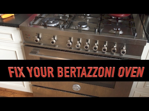 Bertazzoni Gas Range: Oven won't stay on? Replace the thermocouple!