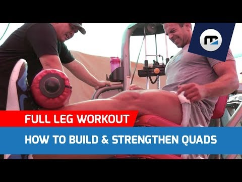 😱HOW TO BUILD & STRENGTHEN QUADS (FULL LEG WORKOUT) Break Through Fat Loss Plateau 🔥
