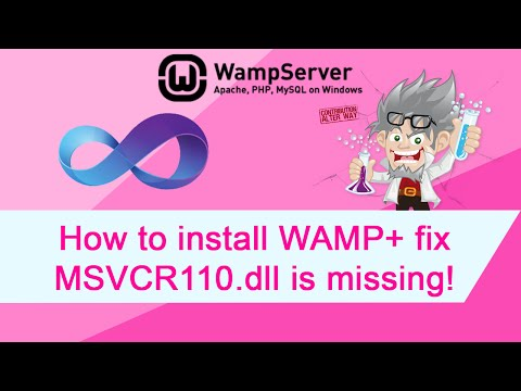 How to install WAMP + fix for Error MSVCR110.dll is missing problem