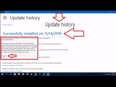 How to Find Update History in Windows 10 PC or Laptop
