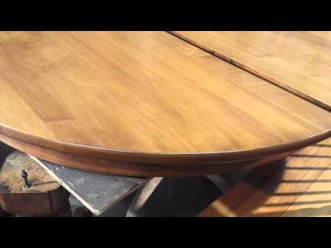 refinishing a maple dining room  table at timeless arts refinishing
