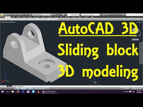 Sliding block AutoCAD 3D modeling tutorial   AutoCAD 3D Modeling 15