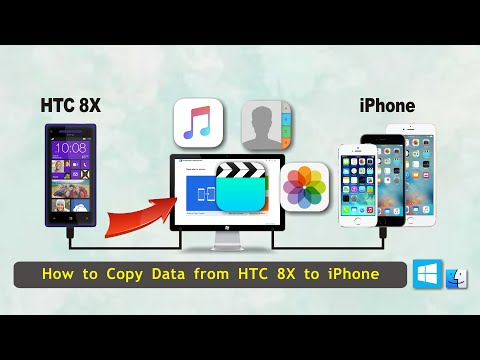 How to Transfer Data from HTC 8X to iPhone, Sync HTC 8X Files with iPhone