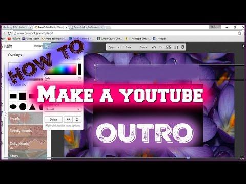 How To Make A Simple Outro- Windows Movie Maker
