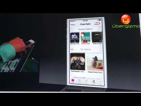 Apple iTunes Radio Demo at WWDC 2013