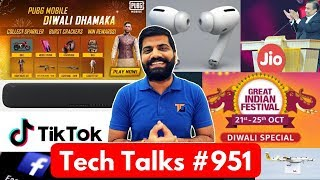 Tech Talks #951 - Jio Free IUC, TikTok Accident, PUBG Diwali Dhamaka, Redmi Note 8T, Airpods Pro