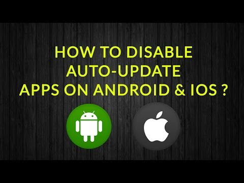 How to stop app update in android and iphone | Stop Automatic App Update Android & Ios