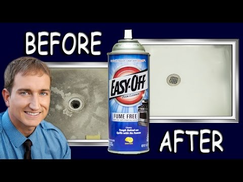 How To Make A Shower Floor White Clean Again With Oven Cleaner