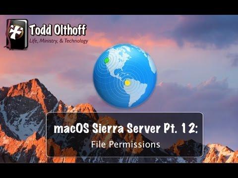 macOS Sierra Server Part 12: File Permissions
