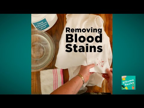 Removing Blood Stains #HomeHacks