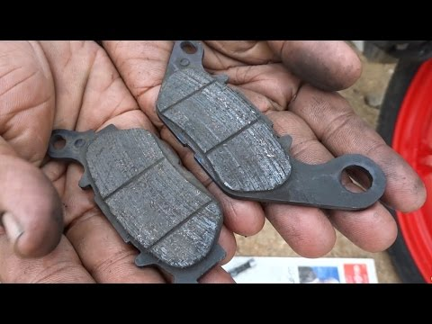How to change Disc Brake Pads on Motorcycle / Bike - Front