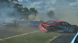 2016 Cheez-It 355 @ Watkins Glen - First Multi-Car Crash