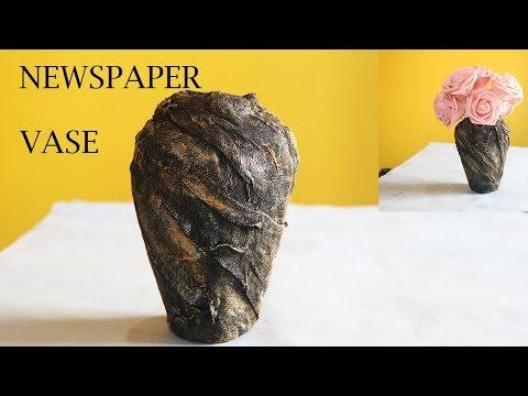 HOW TO MAKE PAPER FLOWER VASE   DIY PAPER FLOWER VASE  