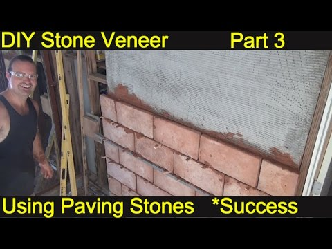 How to install Stone Veneer * EP 3 * Brick Veneer DIY