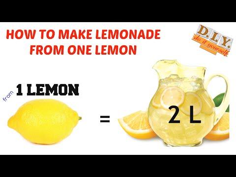 HOW TO MAKE LEMONADE - how to make 2L lemonade from 1 lemon – BEST RECIPE!!!