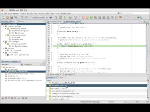 Call Stack Window and NetBeans Debugger