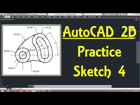 2D Autocad practice drawing 4 in AutoCAD By Engineer AutoCAD Tutorials