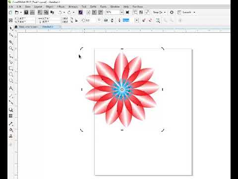 How to make a flower in corel draw 2017 by online classes