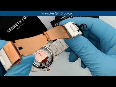 Kenneth Cole KC4860 Transparency Women's White Plastic Bracelet Watch Video