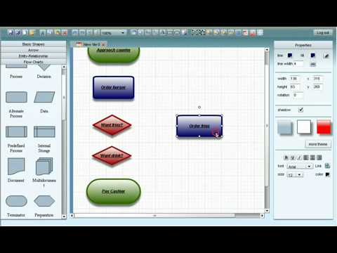 How to make flowchart in Microsoft Visio 2