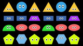Patterns 3 - ABB,  AAB, & ABA Patterns with Shapes - The Kids