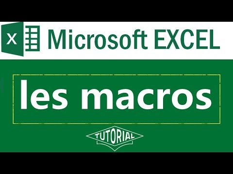 les macros sous Microsoft Excel  2007  2010, 2013