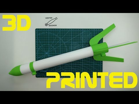 My First Rocket Model - 3D Printed