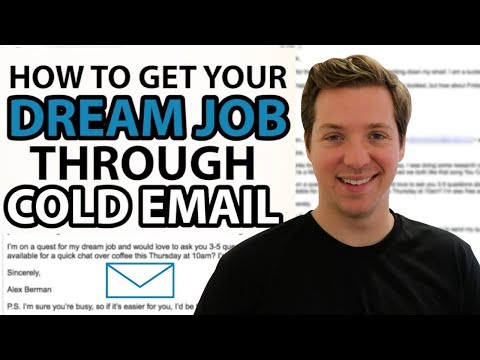 How To Get Your Dream Job Through Cold Email? w/ Cold Email Templates