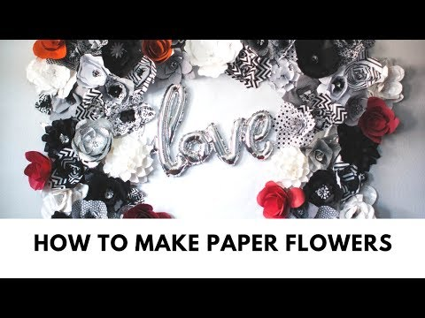 How to make paper flowers, easy video tutorial!