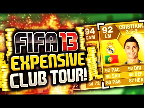 CRAZY FUT 13 CLUB TOUR! EXPENSIVE PLAYERS & SQUADS! (RETRO FIFA)