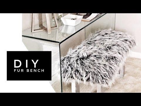 DIY Mongolian Faux Fur Bench - Made From Scratch!
