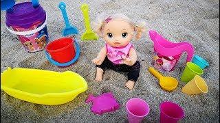 Download Куклы Пупсики Девочка На Море Игрушки для песка Детский канал 108маматв Video