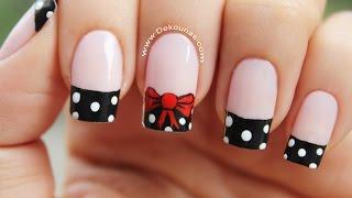 decoracin de uas moo y lunares bow nail art