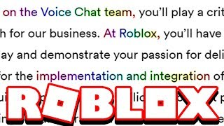 SOMEBODY IS MAKING VOICE CHAT FOR ROBLOX.. *ALERT*