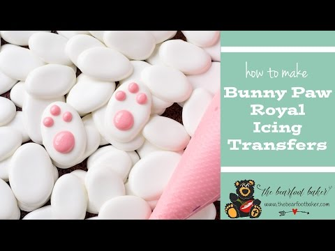 How to Make Bunny Paw Royal Icing Transfers
