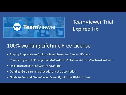 Teamviewer Trial Expired Fix - 100% working - Lifetime Free License