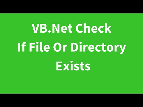 VB.Net - How To Check If File Or Directory Exists From Path Using Visual Basic.Net [ with code ]