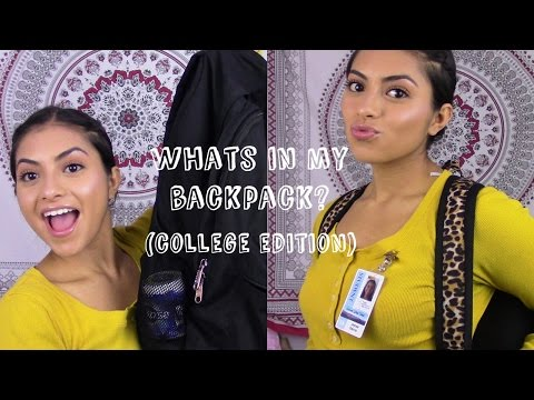 What's In My Backpack? | COLLEGE EDITION