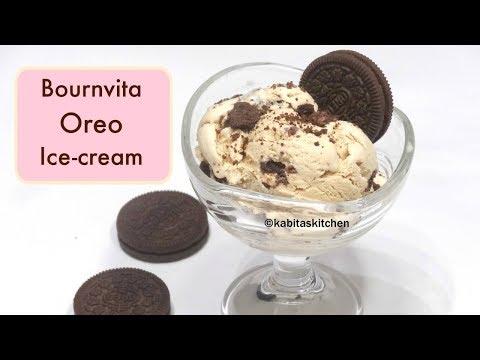 Try something NEW |  Bournvita Oreo Ice cream | Kids Special | Oreo Icecream recipe | Kabitaskitchen