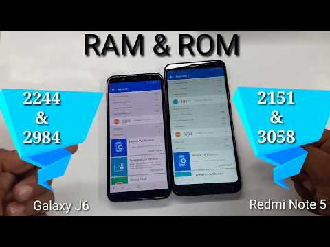 Samsung Galaxy J6 vs Redmi Note 5 AnTuTu Speed Test