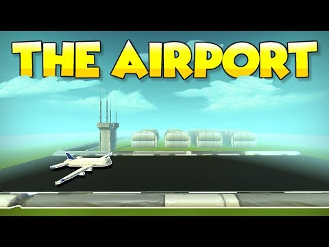 THE AIRPORT TILE with HANGARS and AIRSHOW?! - Scrap Mechanic Tile Tuesdays - Episode 7