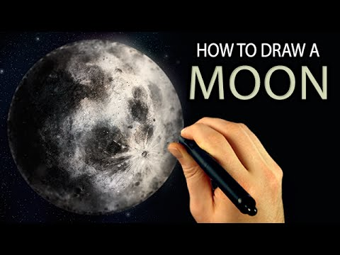 Corel Painter Tutorial - How To Draw A MOON [Draw This #52]