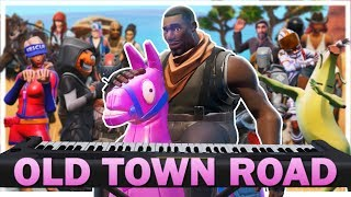 24 players play old town road on fortnite piano - old town road fortnite remix lyrics