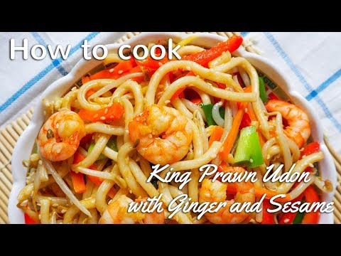 HOW TO COOK KING PRAWN UDON
