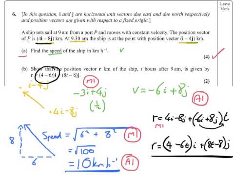 M1 - January 2013 - Edexcel Mechanics 1 - Question 6